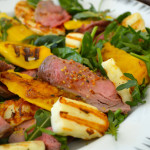 Roast Beef Salad with Grilled Halloumi and Mango