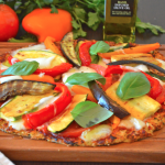 Cauliflower Crust Mediterranean Vegetable Pizza