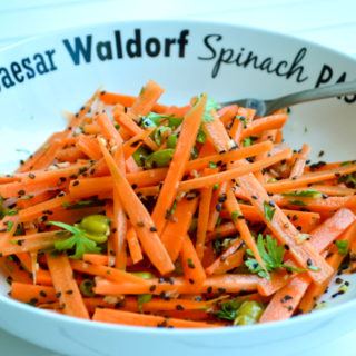 Raw Carrot salad with Ginger & Lime Dressing