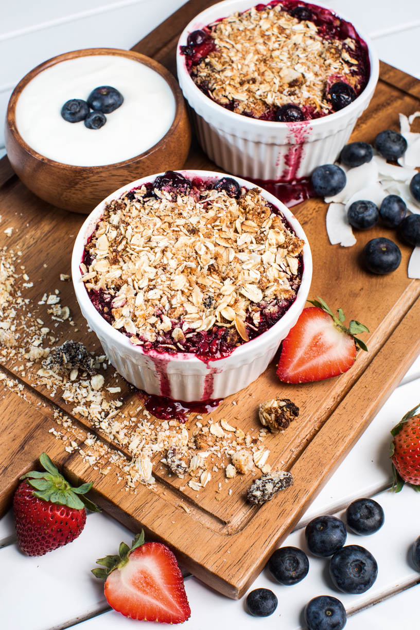 Mixed Berry Crumbles