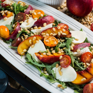 Grilled Nectarine and Mozzarella salad