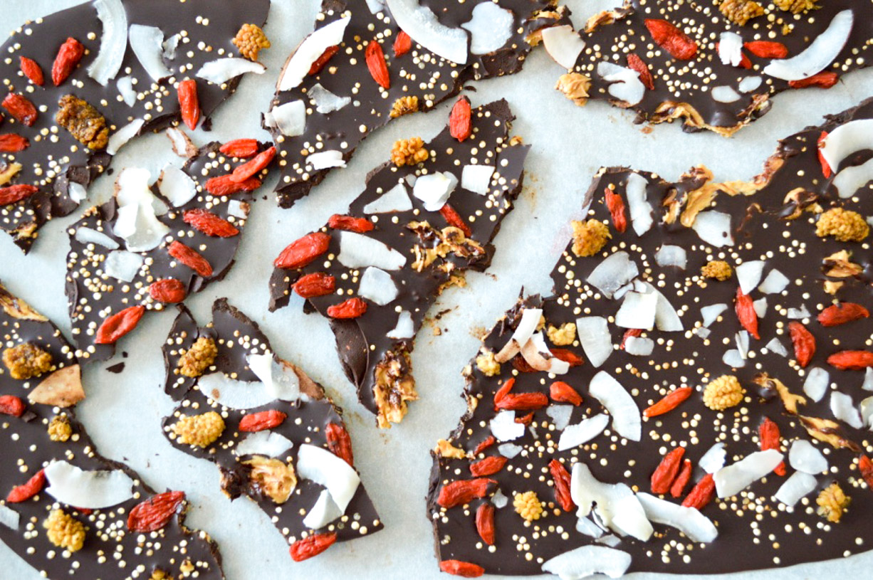 Superfood Easter Chocolate Bark