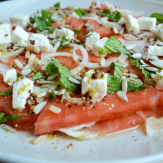 Watermelon and Fennel Carpaccio with Orange Dressing