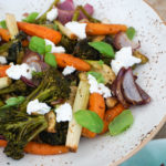 Warm Roasted Vegetables and Goats Cheese Salad!