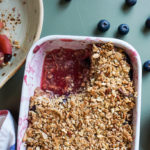 Guilt-free Apple and Blueberry Crumb!