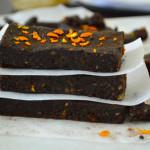 Raw Fudge Chocolate Orange Brownies