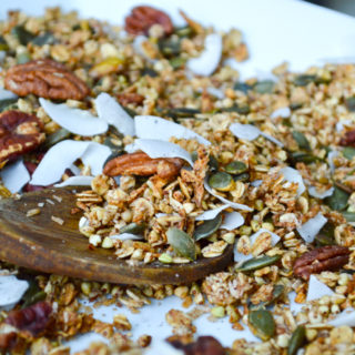 Crunchy Apple & Cinnamon Buckwheat Granola