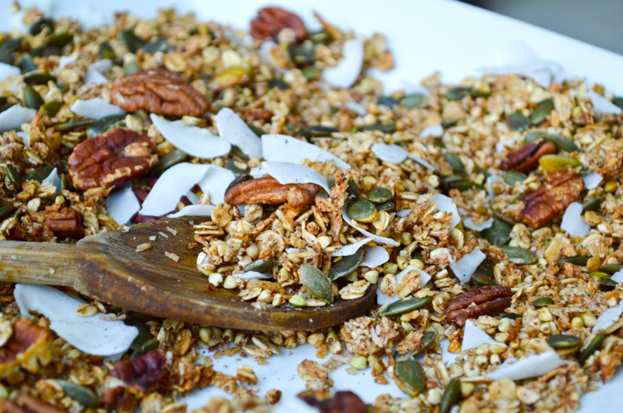 Crunchy Apple & Cinnamon Buckwheat Granola