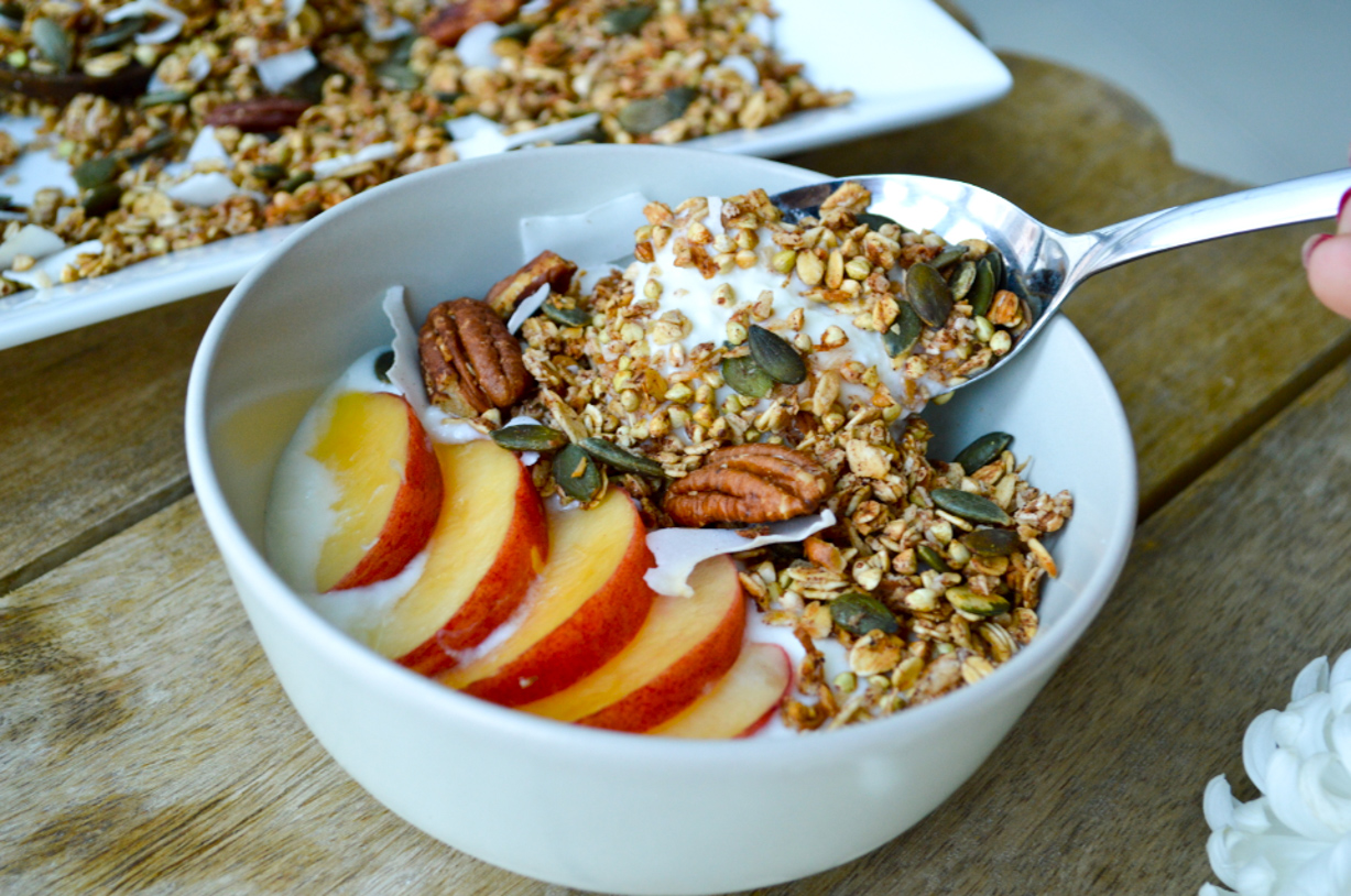 Crunchy Apple and Buckwheat Granola