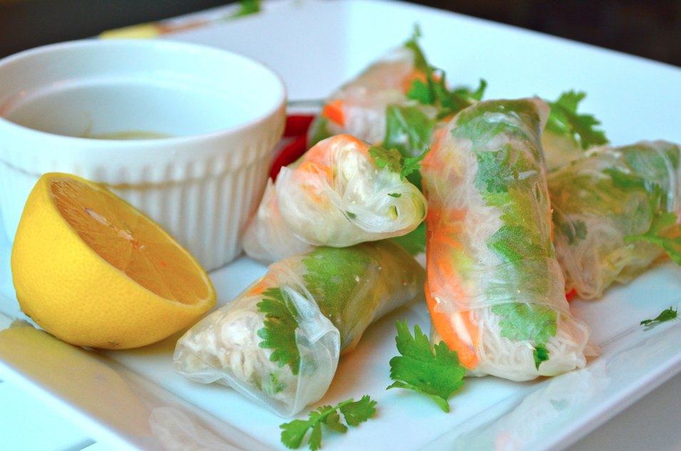 Ginger And Chili Chicken Rice Wraps Wellness Travel Blogger