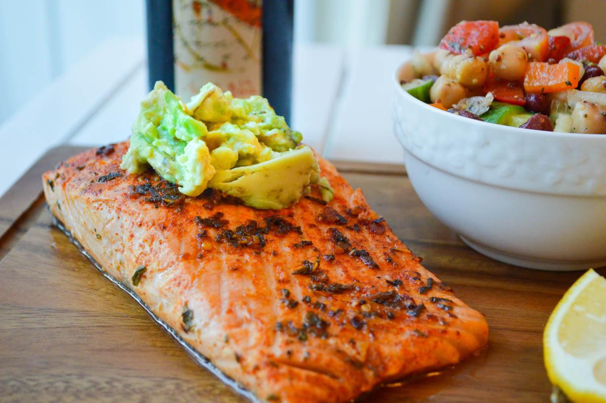 Salmon and Mixed Bean Salad