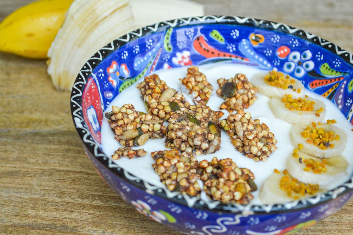 Banana Buckwheat Clusters