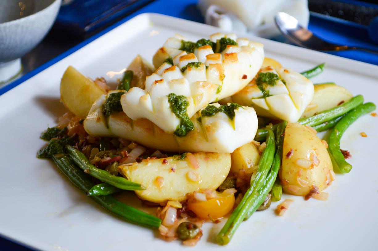 Warm Cuttlefish and green bean salad - Wellness & Travel ...