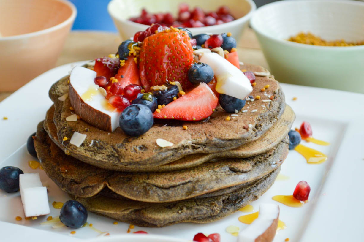 Fluffy Blueberry And Buckwheat Pancakes Wellness Travel Blogger