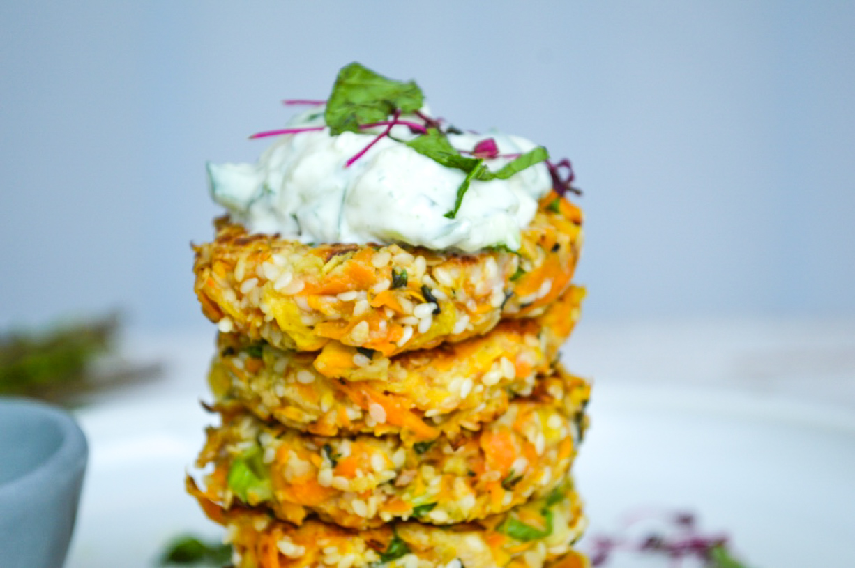 Butternut squash and Zucchini Cakes