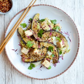 Miso Aubergine and Tofu Stir-fry