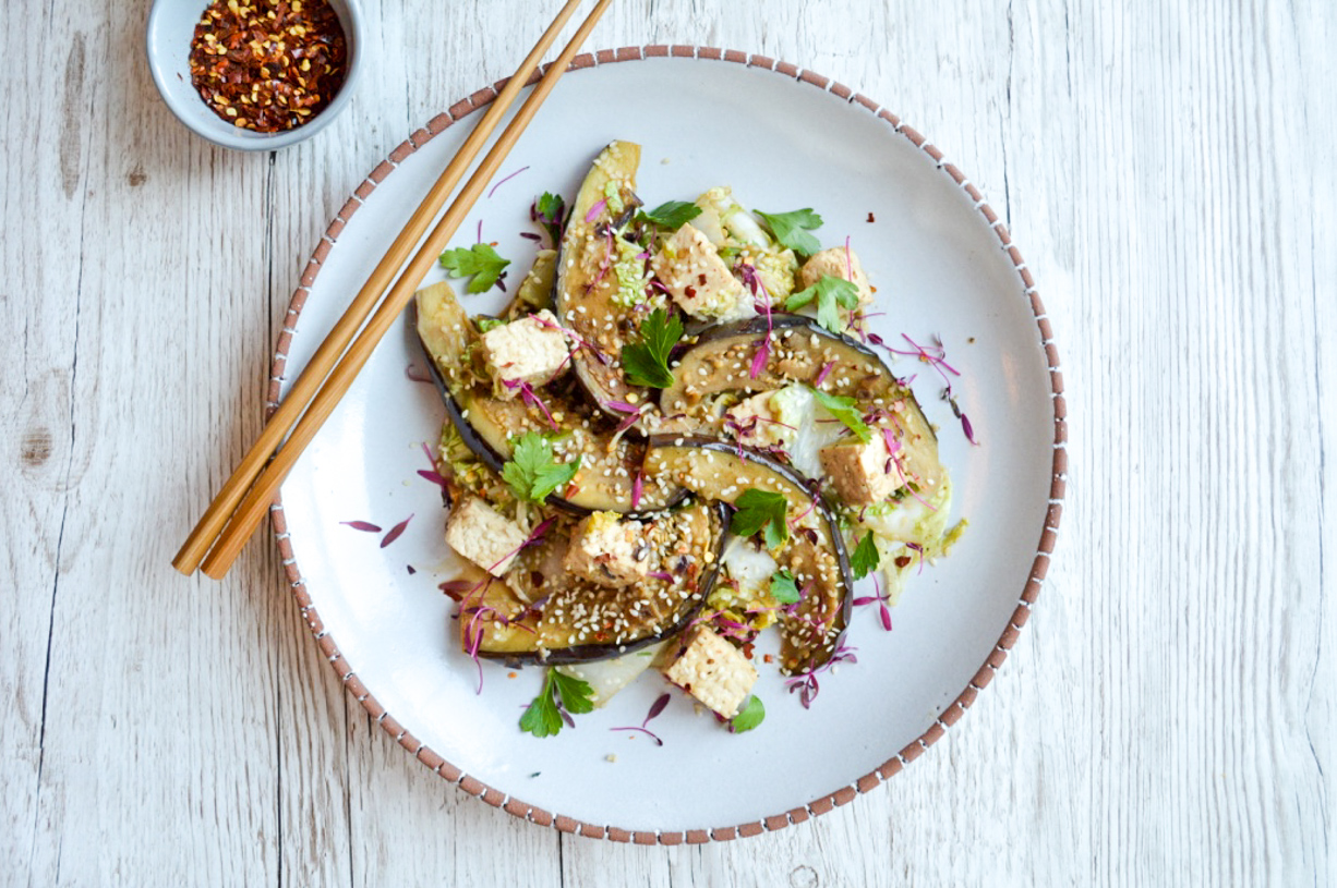 Aubergine and Tofu stiryfry