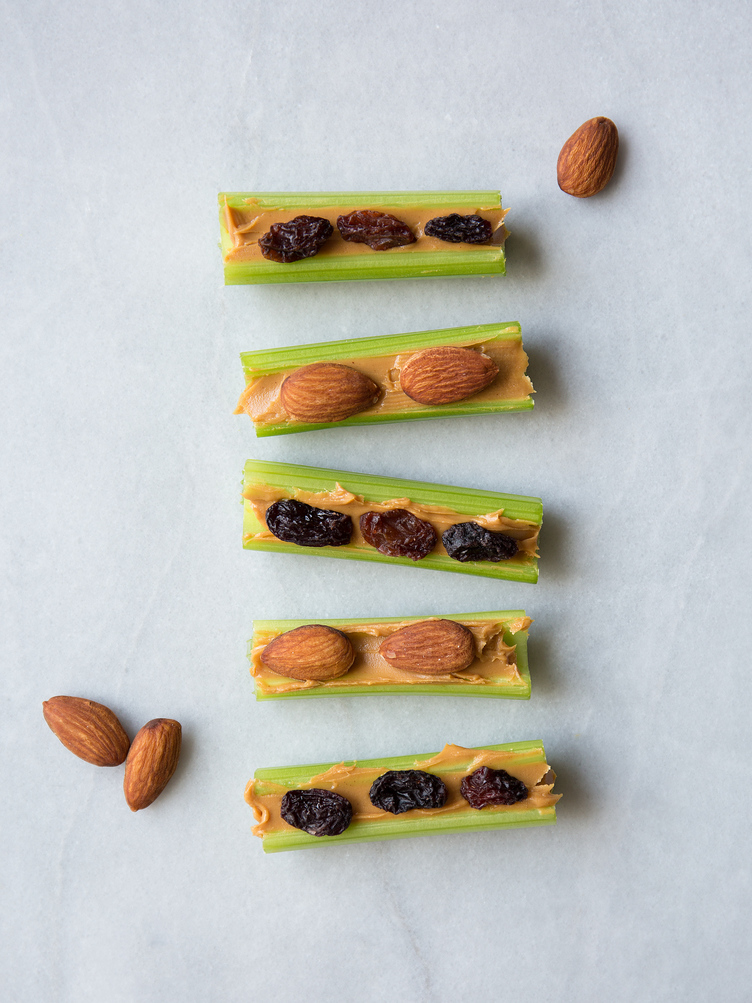 Celery and Nut Butter boats