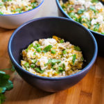 Feta and Green Pea Cauliflower Risotto