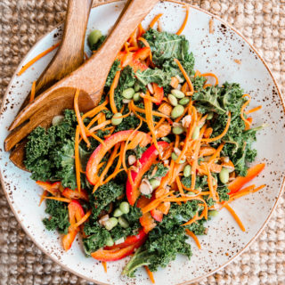 Raw Asian Kale Salad