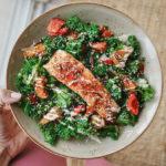 Kale, Roasted Salmon & Root Veg Salad